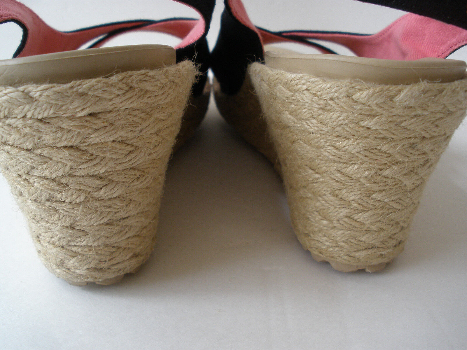CROCKS LINEN FABRIC FABRIC FABRIC WEDGE SANDAL WOMEN SIZE US 9 VERY NICE be29ed
