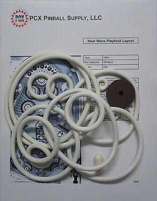1964 Williams Heat Wave Pinball Machine Rubber Ring Kit | eBay