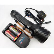 TrustFire 5xCREE XM-L2 LED Diving Flashlight Torch Underwater Diver Light Set UK