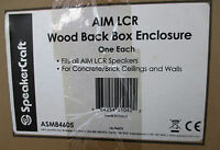 Speakercraft Aim Lcr Wood Back Box Enclosure Asm84605