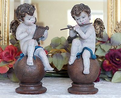 Engel Set Figur Putte Dekofigur Engelfigur Antik Barock Skulptur Cupido Amor Neu