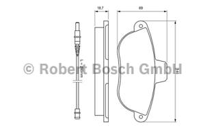 Bremsbelagsatz Scheibenbremse Bosch 0 986 424 415