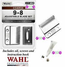 Wahl 9-8 1/2-8 COARSE REPLACEMENT CLIPPER BLADE For Stable/Show/Kennel Pro,UClip
