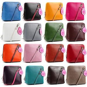 Vera-Pelle-Designer-Womens-Genuine-Italian-Real-Leather-Cross-Body-Shoulder-Bag