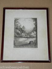 WALTER CLEFF 1921 Radierung im Originalrahmen signiert