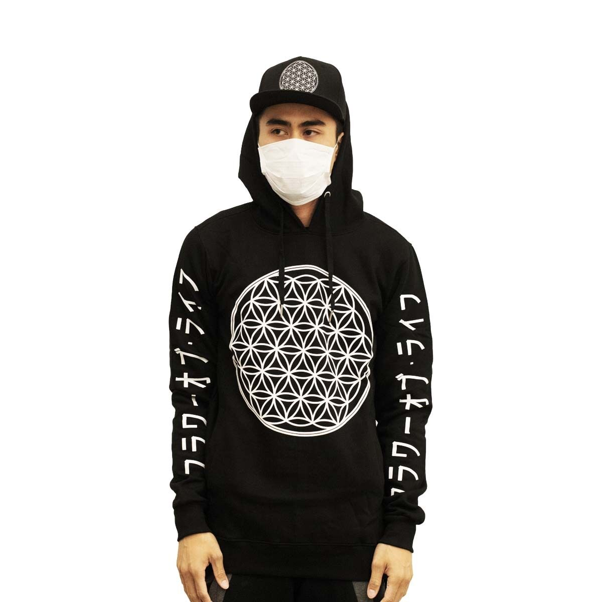 Eunoian Flower of Life Hoodie SacROT Geometry Hippie 10 Deep Just Don Stampd