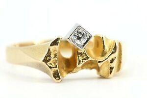 LAPPONIA-Diamant-Goldring-Bjoern-Weckstroem-Gr-61-Gold-750-18K-O8-1991