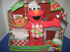 *NEW* Sesame Street Singing Pizza Elmo Toy Doll Fisher Price 2007 Talking Plush