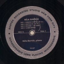 Bela Bartok performs his own music on LP 003