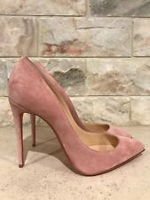 NIB Christian Louboutin Pigalle Follies 100 Pink Rose Ronsard Suede Pump Heel 42
