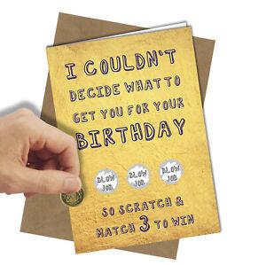 Rude Scratch Off Birthday Card Boyfriend Husband Partner Funny Free Post 994 Ebay