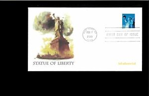 2001-First-day-Cover-Statue-of-Liberty-New-York-NY-amp-Washingtin-DC