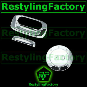 99-06-Chevy-Silverado-GMC-Sierra-Triple-Chrome-Plated-Tailgate-Handle-Gas-Cover