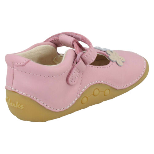 Chicas Clarks Pequeño Sol T Hook /& Loop Cruisers primero Zapatos Para Caminar Bebés Tamaño