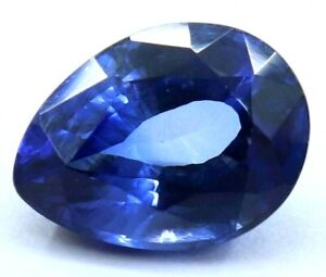 7.25 Ct Natural Royal Blue Sapphire Pear STUNNING Ceylon Certified Loose Gems
