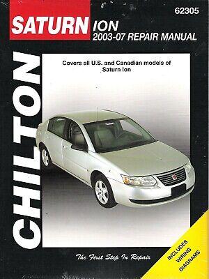 2007 saturn ion wiring diagram 2002 2007 saturn ion chilton repair service workshop shop manual  2002 2007 saturn ion chilton repair