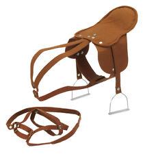 HAPPY PEOPLE 58466 Sattel mit Steigbügel und Zaumzeug braun Reittier Pferd