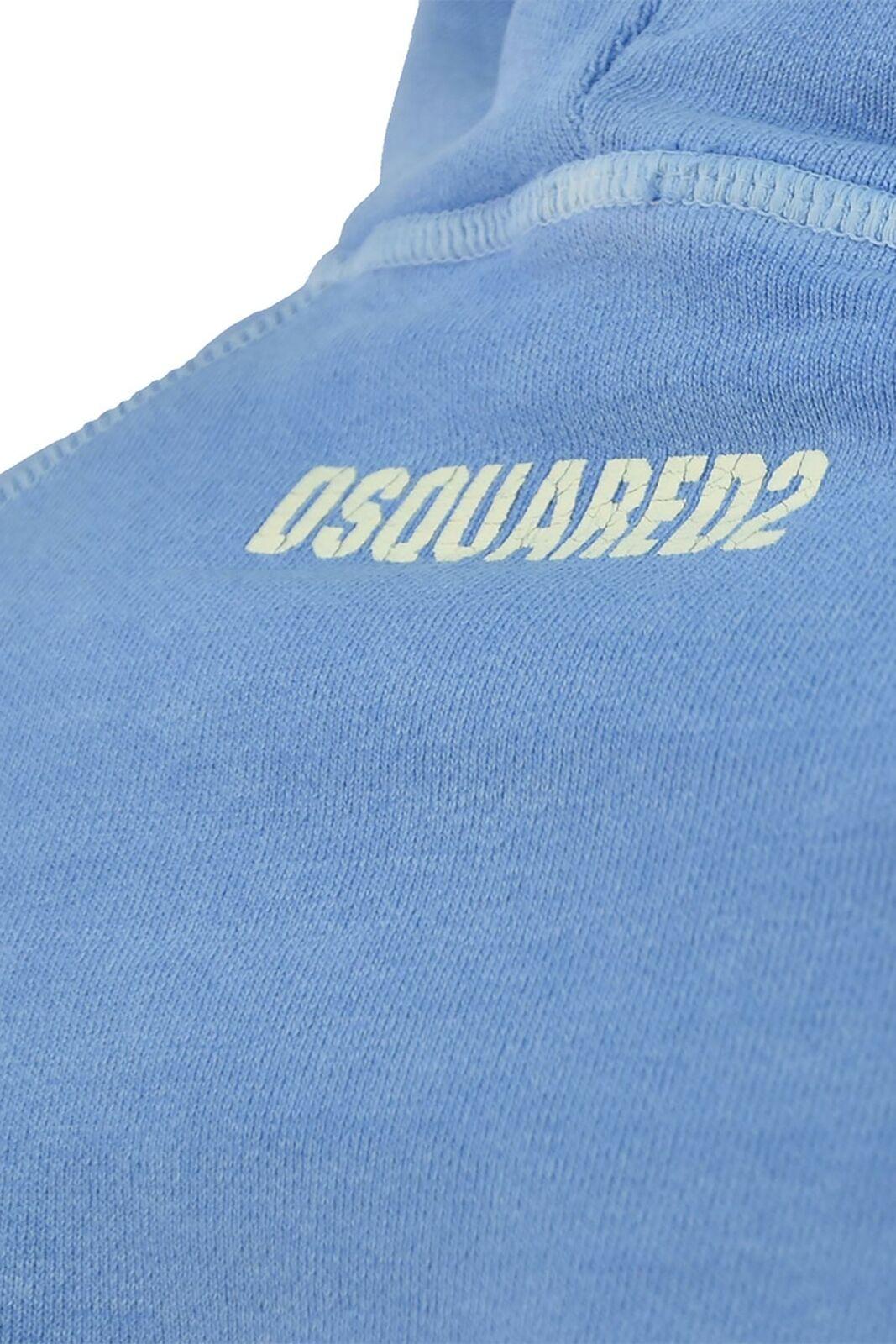 Dsquared2 Sweatshirt Blue Man Cotton Logo Mod.S74GU0056S25217471
