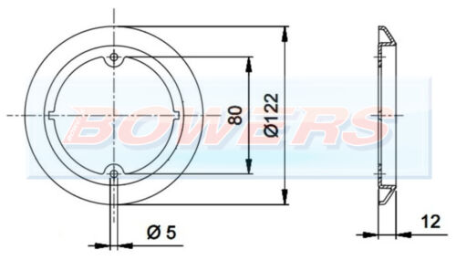 JOKON 710 AMBER TRIM BEZEL OUTER RING FOR 95mm ROUND REAR LIGHTS LAMPS