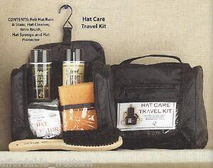 Travel-HAT-KIT-Rain-Protector-Hat-Cleaner-Brim-Brush-Sponge-Cover-Stiffener