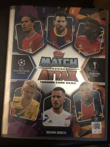 MATCH ATTAX 2020//21 FULL SET OF ALL 400 CARDS IN BINDER MINT LIMITED