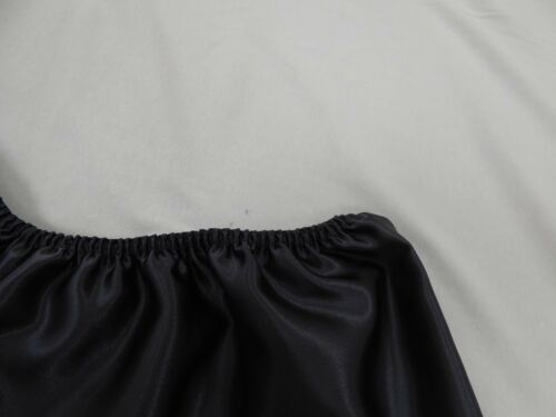 Charcoal  Polyester Satin French Knickers in 14//16 with Pink Lace.
