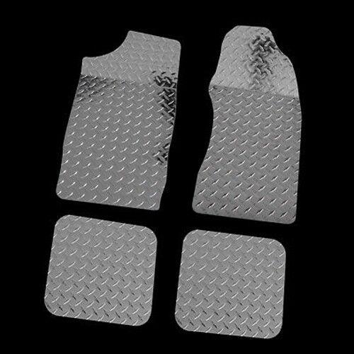 79-93 FORD MUSTANG DIAMOND PLATE FLOOR MAT 4PC SET