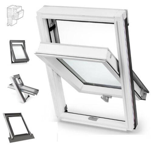 Eindeckrahmen OUTLET Dachfenster Keylite BW 55x78 Holz Weiß Schwingfenster