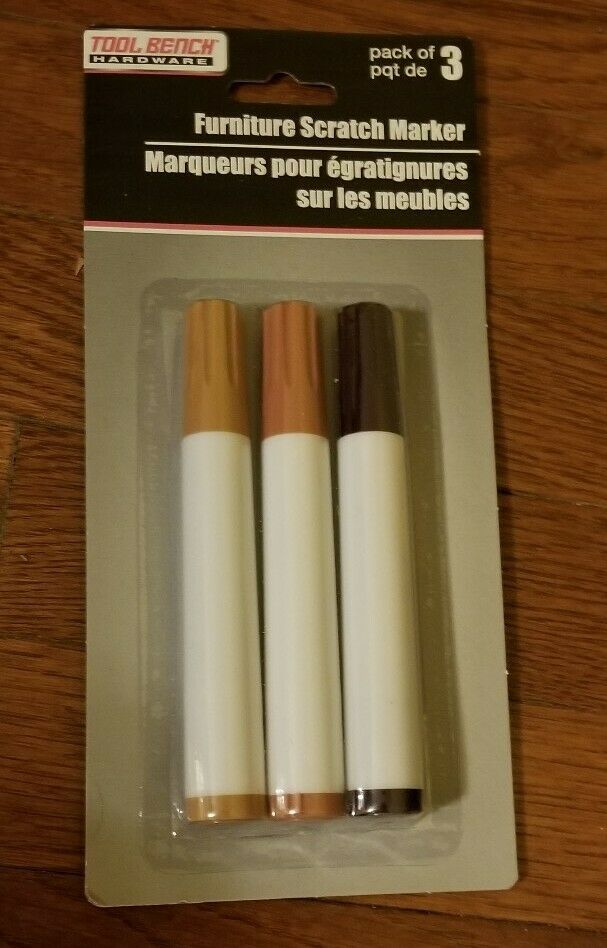 Oak Tool Bench Hardware Furniture Scratch Markers Pack of 3~ Cherry Maple