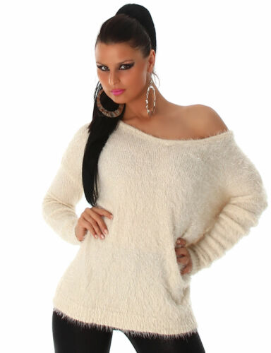 Pullover weich flauschig Sweater Sweatshirt Damen Einheitsgröße 32 34 36 38 Neu