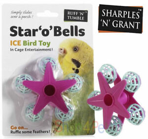 Budgie Cockateil Canary Finch Sharples-n-Grant Caged Ice Small Bird Toy Bead n Rung with Mirror