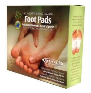 Relaxus Detox Body Cleansing Herbal Foot Pads CLEANSING FOOT PADS