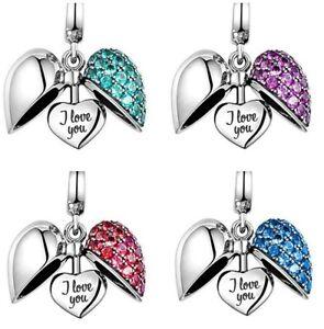 I-Love-You-Heart-Charm-S925-Sterling-Silver-Gift-Mum-Sister-Grandma-Nana-Wife