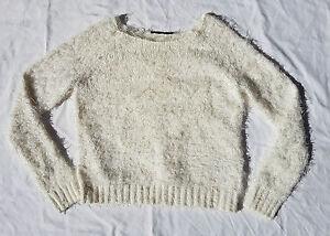 AS-NEW-Portmans-Fluffy-Soft-Angora-Like-Jumper-Sweater-90-039-s-Grunge-Cream-Size-XS