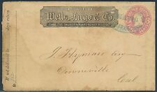 WELLS FARGO & Co COVER W/ BLUE MAY 10 SAN FRAN CANCEL TO DOWNEVILLE,CA BR8157