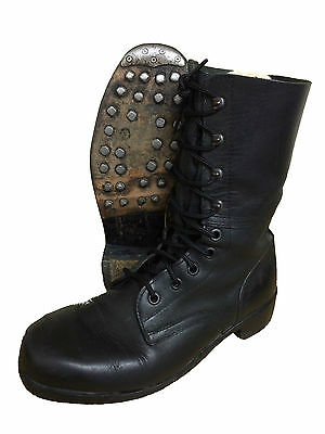 German/Austrian Unlined Vintage Paratrooper  Para Boots,Ammo Boot,Hobnail Boot