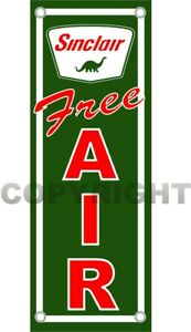 SINCLAIR-Dino-FREE-AIR-Gasoline-Oil-amp-Gas-Station-Aluminum-16-034-x-6-034-Sign