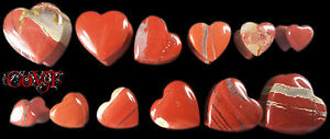 Pair-2g-5-8-034-Red-Jasper-Carved-Heart-Double-Flare-Ear-Plugs-Organic-Stone-Gauges
