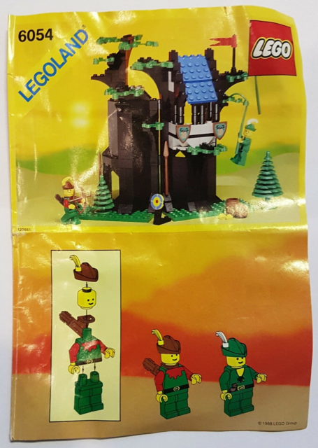 Lego Castle, 6054: Forestmen's Hideout, Brugt, fin…