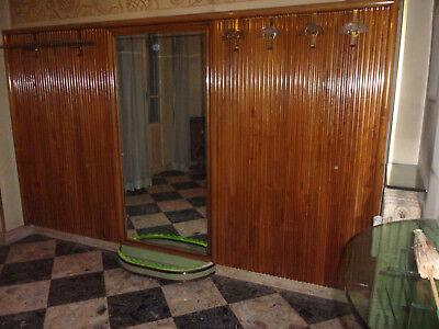 Armoires & Wardrobes Nice Ingresso Attaccapanni Originale Dèco Antico Specchio Fioriera Cappelliera Raro Meticulous Dyeing Processes
