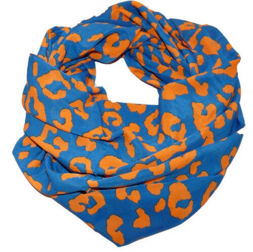Loop foulard scialle tubo scialle NEON LUMINOSI COLORI GIALLO ARANCIO ROSA BLU