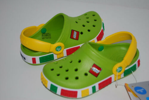 NWT CROCS CROCBAND KIDS LEGO CLOGS 4//5 6//7 8//9 10//11 12//13 1 2 3 unisex shoes