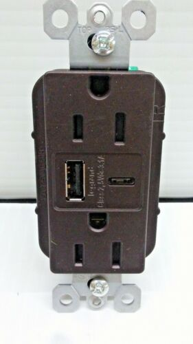 Pass Seymour R26USBACDBCCV4 3.1A USB Charger Outlet Combo Dark Bronze FREE SHIP