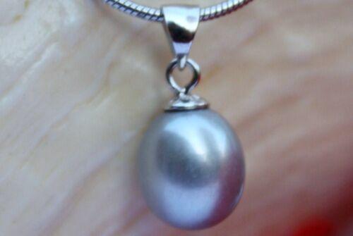 P06G echt Zucht Süßwasser Perle Schmuck Anhänger ohne Halskette Kette 925 Silber