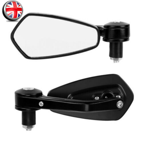 """Pair 22mm 7//8/"""" Motorcycle Aluminum Rear View Handle Bar End Side Rearview Mirror"""