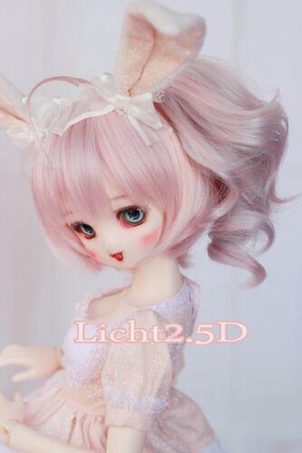 BJD Doll Wig 1//6 6-7 YOSD BB Dollfie Pink Mix hair 15-17cm