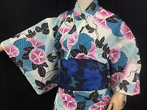Yukata-japonais-Floral-Bleu-Import-direct-Japon-1424
