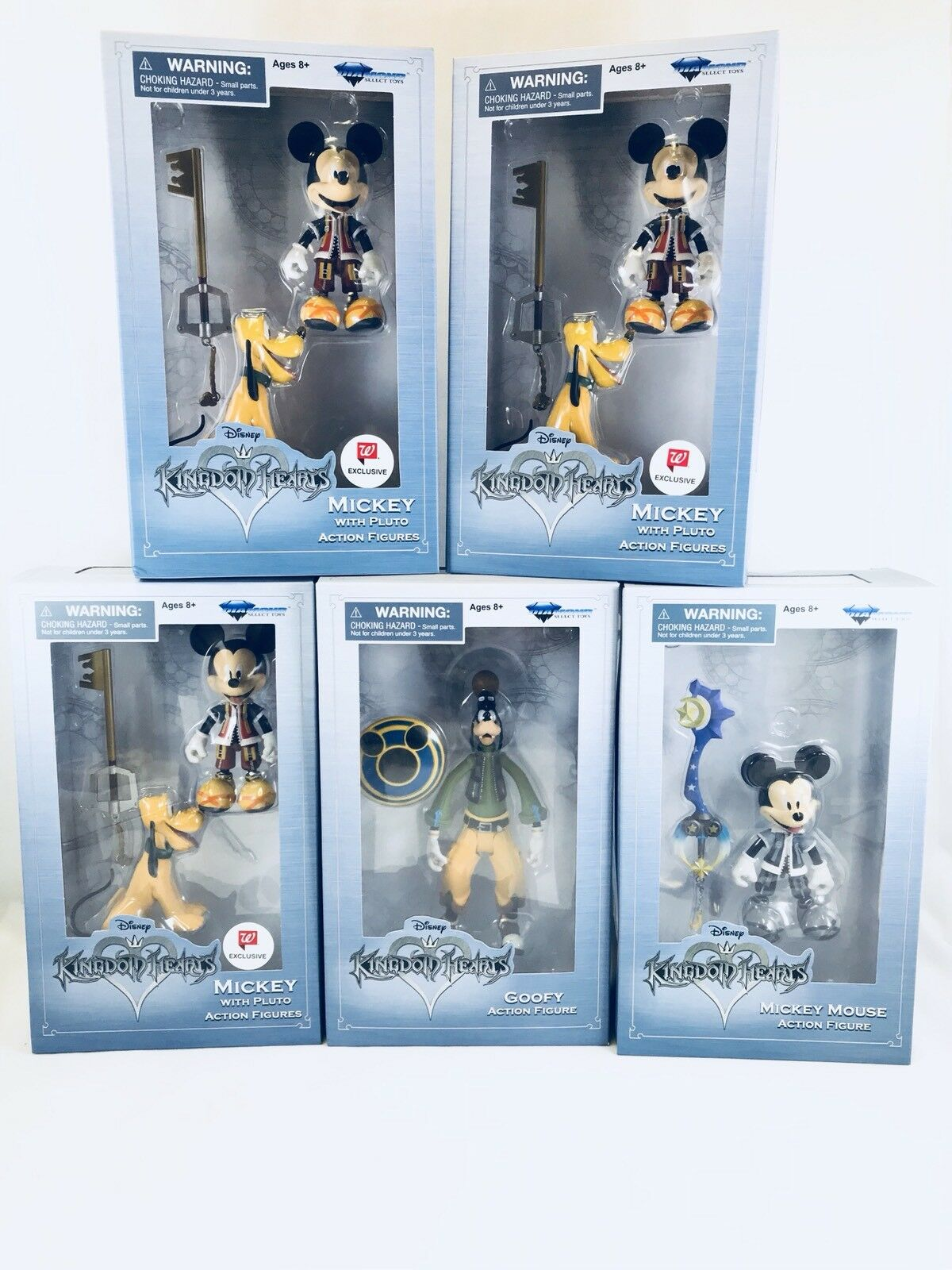 Kingdom Hearts Diamond Select Figures lot of of of 5 Figures  Walgreens Exclusives  802ac1