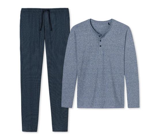 Schiesser Herren Schlafanzug  Pyjama blau Mix/&Relax Gr.50-66   2019