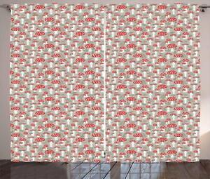mushroom curtains 2 panel set for decor 5 sizes available window